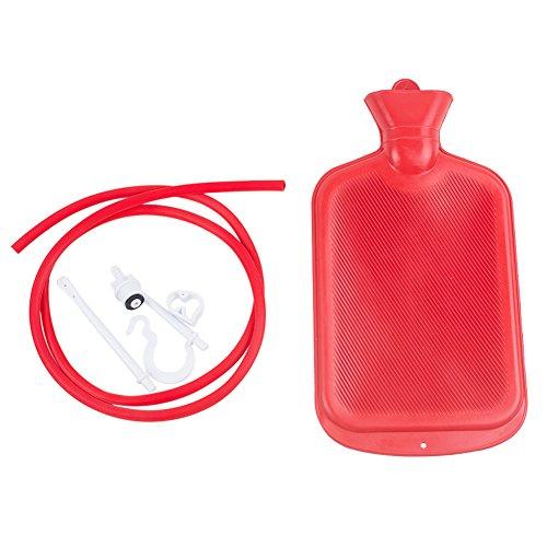 Xaer Hause Spritze Klistierbeutel Doppelpunkt Anal Douche Reinigungs Kit Gummi Persönliche Gesundheit Reinigen Heißwasserflasche 2000 ML