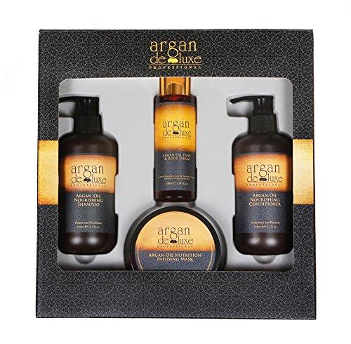 Argan DeLuxe Arganöl Geschenk-Set, Premium Haar Pflege Set