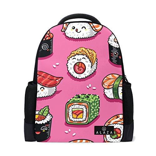My Daily Cute Cartoon Sushi Emoji-Rucksack 35,6cm Laptop Daypack Schultasche für Reisen College Schule