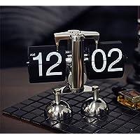 MEILI Kreative Retro Persönlichkeit Metall Flip Uhr Wohnzimmer Schlafzimmer Dekoration mechanische Uhr Digitaluhr preisvergleich bei billige-tabletten.eu