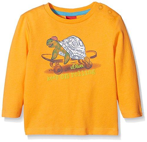 s.Oliver Baby-Jungen Langarmshirt 65.801.31.7902, Orange (Orange 2302), 86