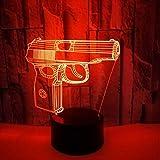 7 Farben 3D Led Lampe Acryl Led Usb Lampe Touch Zimmertisch Schreibtisch Kreative Nachtlicht Nachttischdekoration