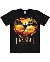 Logoshirt Herren Freizeithemd Hobbit, the-I Am Fire, I Am Death