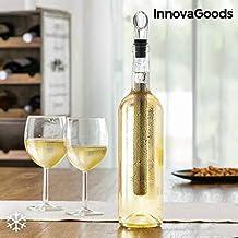 InnovaGoods IG813505 Enfriador de Vino con Aireador, Negro