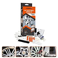 sycamorie DIY Alloy Wheel Repair Adhesive Kit - 5 Minutes General Purpose Silver Paint Fix Tool for Paint Rim Surface Damage Car Auto