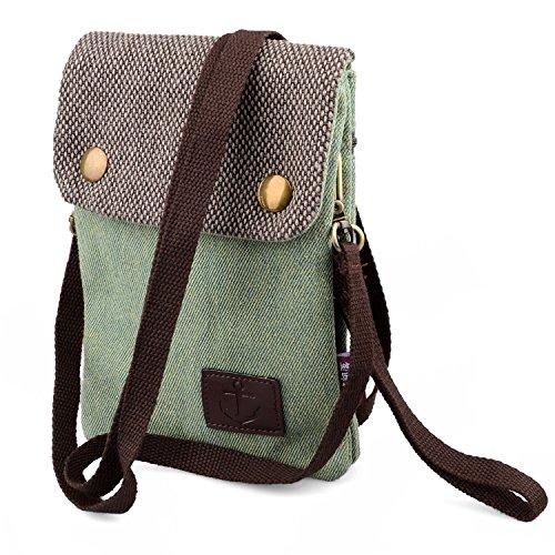 Mini borsa a tracolla telefono portafoglio donna ragazze piccolo borsello in tela borsetta per cellulare iphone x 8 7 6s plus 8 7 6s samsung galaxy s9 s8 plus s9 s8 + hengying portachiavi