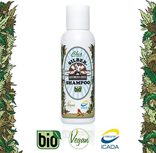 Bio Silbershampoo I 100% natürlich & vegan I Schutz für blondiertes / graues Haar mit Arganöl & Indigo - Glycerinfrei, ohne Silikon & Parabene - 100ml Silber Shampoo von Kastenbein & Bosch