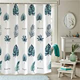 JYJSYM Shower Curtain, Waterproof/Mildew / Bathroom/Polyester / Leaves/Plumb bob/Shower / Bathtub/Curtain 280x200cm,Leaves,280x200cm