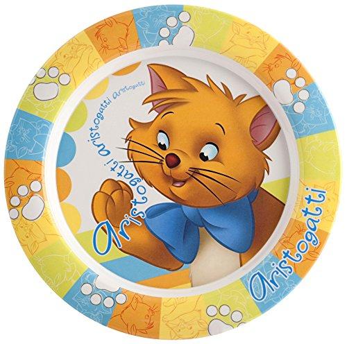 Home Disney Aristogatti Piatto Fondo in Melammina, Multicolore, 21 cm