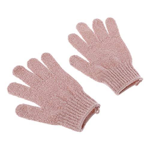 2 Stücke Dusche Bad Handschuhe Peeling Luffa Körper Wäscher Waschen Haut Spa Massage (Kunststoff-körper-wäscher)