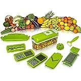 The Dealz Nicer Multi Chopper Vegetable Cutter Fruit Slicer Peeler Dicer Plus