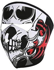 Sijueam Tour de Cou Nez Oreille Bouche Masque Visage de Singe Coupe Vent Cagoule au Chaud Anti Poussière / Froid Squelette Halloween Bonnet pour Adulte Cycliste Motard Ski Vélo VTT Moto Cross Scooter