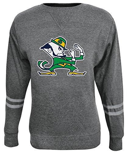 NCAA Damen Crew Sweatshirt, Damen, ROSAURA, Gray/Ash, X-Small (Fleece Sweatshirt Scoop Neck)