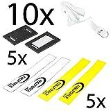 Full Force Flag Football Sets de avec fermeture Velcro, 10Ceinture avec 10Flag-en 2couleurs, Blanc/jaune...