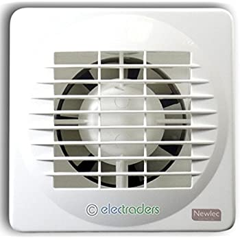 Newlec NL880T Bathroom Axial Extractor Fan with Adjustable Overrun on