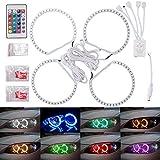 50SMD Mehrfarbig RGB LED-Scheinwerfer Angel Eyes