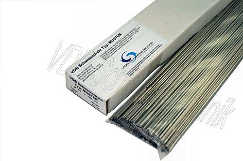 1.4430 - 1,6 x 1000 mm Edelstahl Schweißdraht V2A V4A 316 Draht INOX