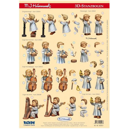 Reddycards 3D Stanzbogen M.I. Hummel Nr.57, Engel