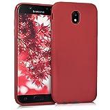 kwmobile Funda para Samsung Galaxy J5 (2017) DUOS - Carcasa para móvil en [TPU Silicona] - Protector [Trasero] en [Rojo Mate]