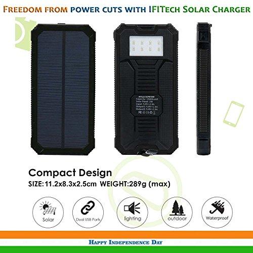 IFITech Solar Power Bank (Black)