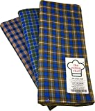 #8: the cotton chef Cotton Lungi Assorted Color Checks 2.25 Mtr. Pack of 3