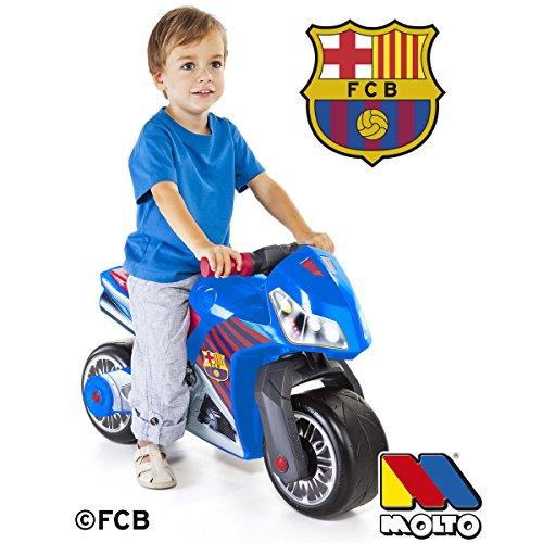 Rutsch Motorrad FC Barcelona Style mit breiten Reifen, dient als Lauflernhilfe für die Kleinen, 70 cm, für Innen und Außen, Robust, Lauflernrad fürs Gleichgewicht, Kinder Bike, Laufrad ab 18 Monaten - 2