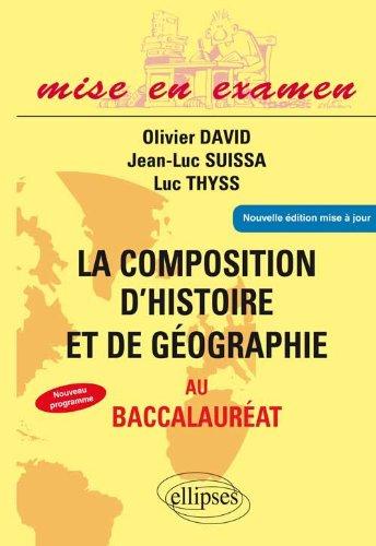 La Composition d'Histoire & de Géographie au Baccalauréat Terminales ES & L