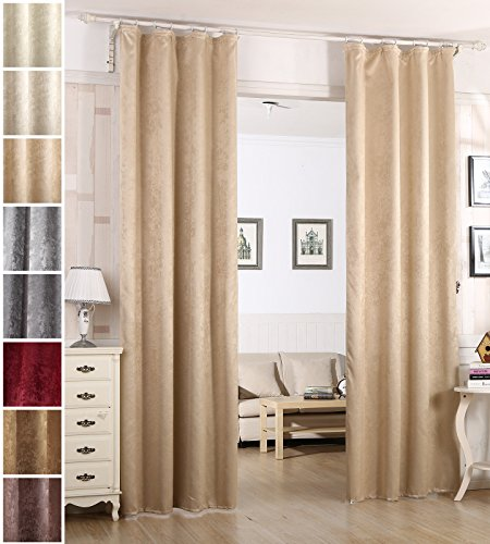 Woltu tende oscuranti finestre tenda drappeggio velluto stampato termica isolante pesante 2 pannelli