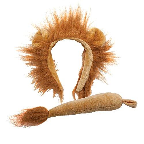 Lion Animal Ohren und Schwanz Kostüm Set Zubehör (Halloween-kostüme Großbritannien London)