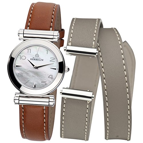 Michel Herbelin Set Antarès Women's Watch inkl. additional Wristband Set SET17443/19GTL