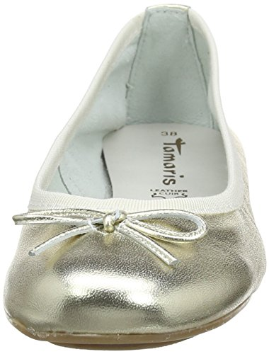 Donna 22165 Oro Light Gold Ballerine Tamaris 8BWZTnFOn