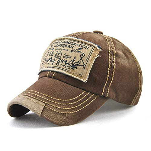 sdssup Trend Männer und Frauen Hut Retro Print Appliqué Baseball Cap Kaffee einstellbar (Ford Leuchten)