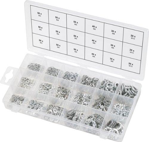 Preisvergleich Produktbild KS Tools 970.0240 Sortiment Zahn-Unterlegscheiben,M3-10, 720-tlg.