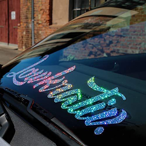 Auto Aufkleber Lowkrativ Frontscheibe Oilslick-Aufkleber Hologramm Glitzer-Flakes Sticker Low deep Bagged Stance Static Dapper Illest stillgelegt