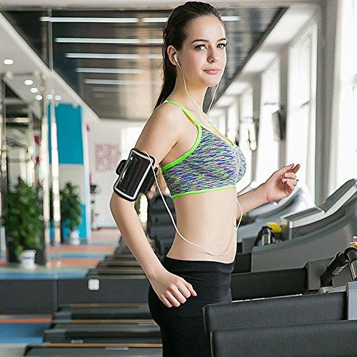 Aibrou Damen Sport BH Starker Halt Bustier Push Up Bra Top für Yoga Fitness Training Grün