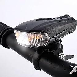 Faro Luz de Bicicleta, FisherMo Potente LED Faro Bici Recargable USB CREE T6 Super Brillante IPX6 Resistente Al Agua para Mountain Bike, Bicicleta de Carretera, Bici De La Ciudad
