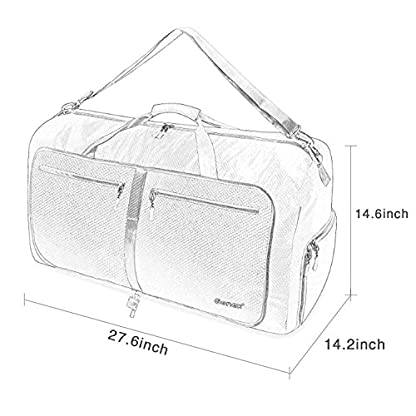 51pArwobFNL. SS416  - Gonex-Bolsa de equipaje plegable para deporte o viaje (multiusos, impermeable, 80 L)