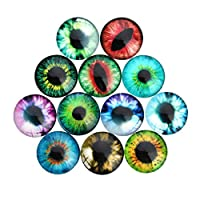 TOYANDONA 100pcs Dome Acrylic Cabochons Assorted Eyes Flatback Cabochons Rhinestone Embellishments for DIY Craft Jewelry Making Accessories 30mm