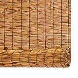 XZP Luce Che filtra Cortina di bambù cieco Romano Shades Decorativo Cortina di Reed Finestra di ripartizione, 22 Misure di Sostegno di Personalizzazione (Size : 160X250CM)