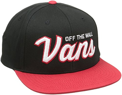 Vans Wilmington Snapback - Casquette De Baseball Homme, Noir (Black/Racing Red) - Taille Unique (Taille fabricant: One Size)