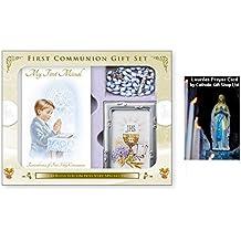 My First Holy Communion - Set de regalo para un niño con rosario de Missal (C5175)