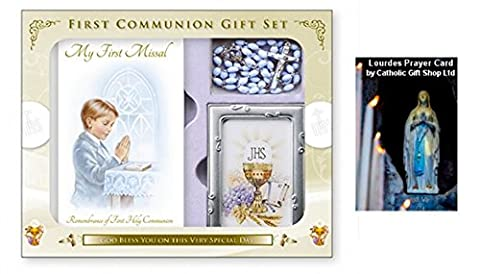 My First Holy Communion Gift Set For A Boy- with Missal, Rosary (C5175)