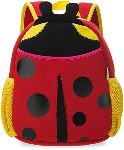 Kinder- Rucksack Wasserdicht Kindergartentasche Ausflug Freizeittasche Tier – Motiv Marienkäfer