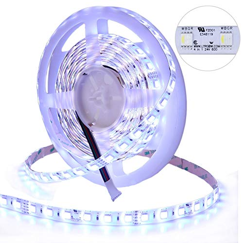 LTRGBW SMD5050 DC 24V 72W 300 LEDs 4-in-1 RGBW Kaltweiß LED Stripe Lichtstreifen IP65 Wasserfest LED Streifen 5M