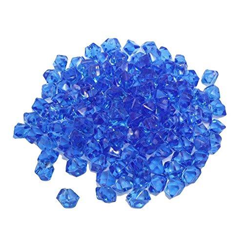 Blaue Plastik Unregelmaessige Kristall Steine Aquarium Ornament (Farbigen Glas-steinen Blau)