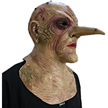 740bab955 DylunSky Nuevo estilo Halloween Máscara de terror de nariz larga Scary  Zombie Látex Máscara