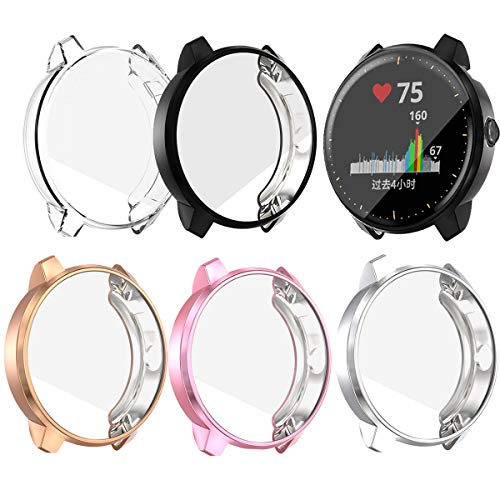 Ruentech Protector Case für Garmin Vivoactive 3 Music Schutzhülle, Ersatz TPU Protector Shell für Vivoactive 3 Music Sport Smartwatch Strap Zubehör (5colors) -