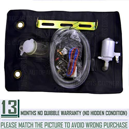 Universal-Waschflaschenbeutel-Kit für Windschutzscheiben mit 12V-Pumpe 151286776374