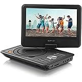 Apeman Reproductor de DVD portátil con 9.5 pulgadas HD Display giratorio, admite tarjeta SD y USB