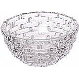 King International Crystal Glass Bowl With Beautiful Design | Serving Bowl | Glass Katori | 16 Cm